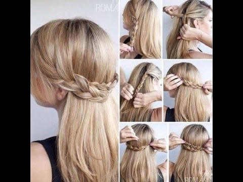 DIY : 3 PENTEADOS COM TRANÇA,FÁCIL E RÁPIDO (Hairstyles with braids)