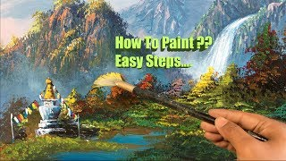 Painting A Beautiful Mountain Landscape with Acrylics   How To Paint  Painting Lesson  Painting Easy