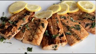 Grilled Salmon Recipe on a Kamado Style Ceramic Charcoal Grill