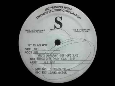 Ali Dee - Who's Da Flava (Dance)test press only version