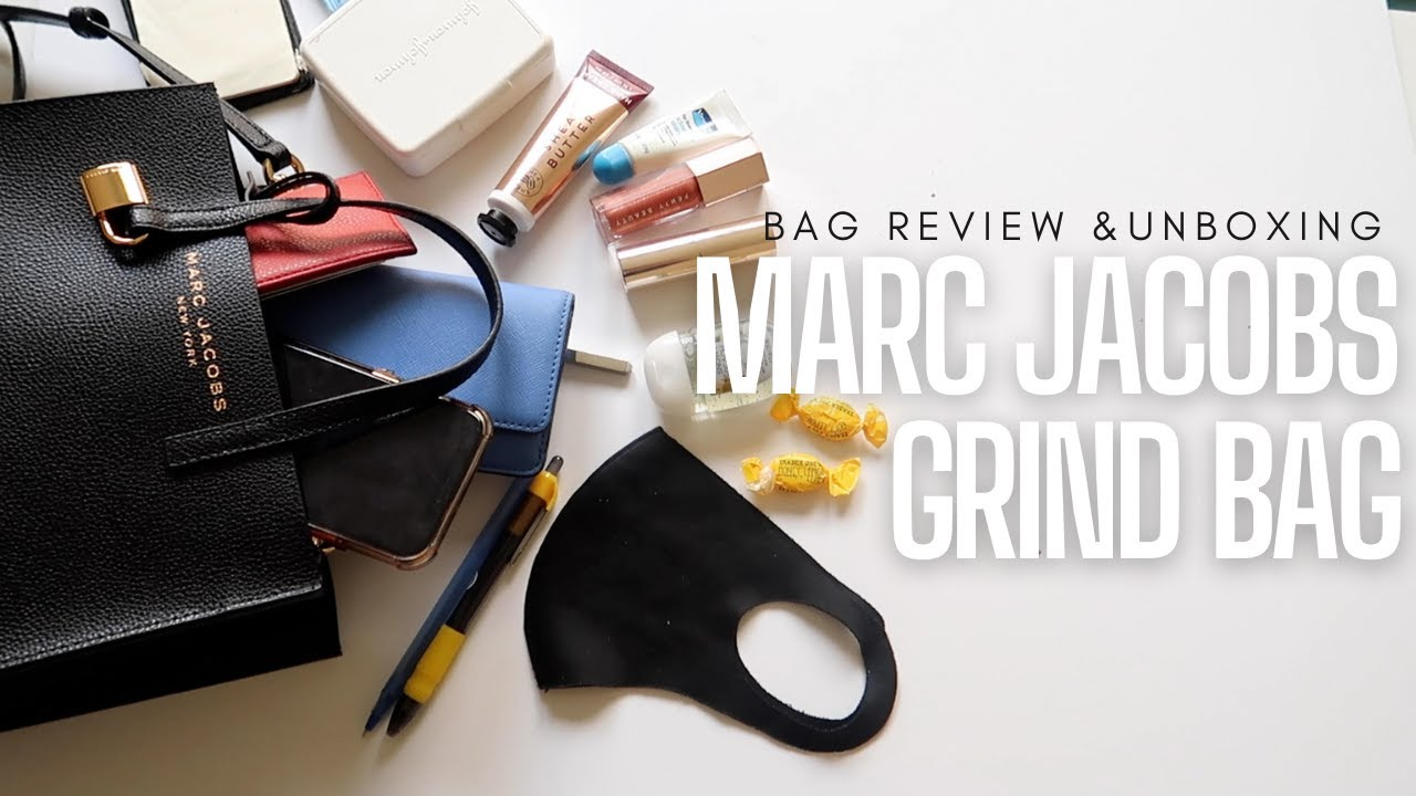 MARC JACOBS MINI GRIND TOTE REVIEW | Unboxing | What's in My Bag |  Contemporary Luxury Bag Brands
