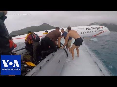 U.S. Navy Sailors Help Rescue Plane Crash Victims In Micronesia