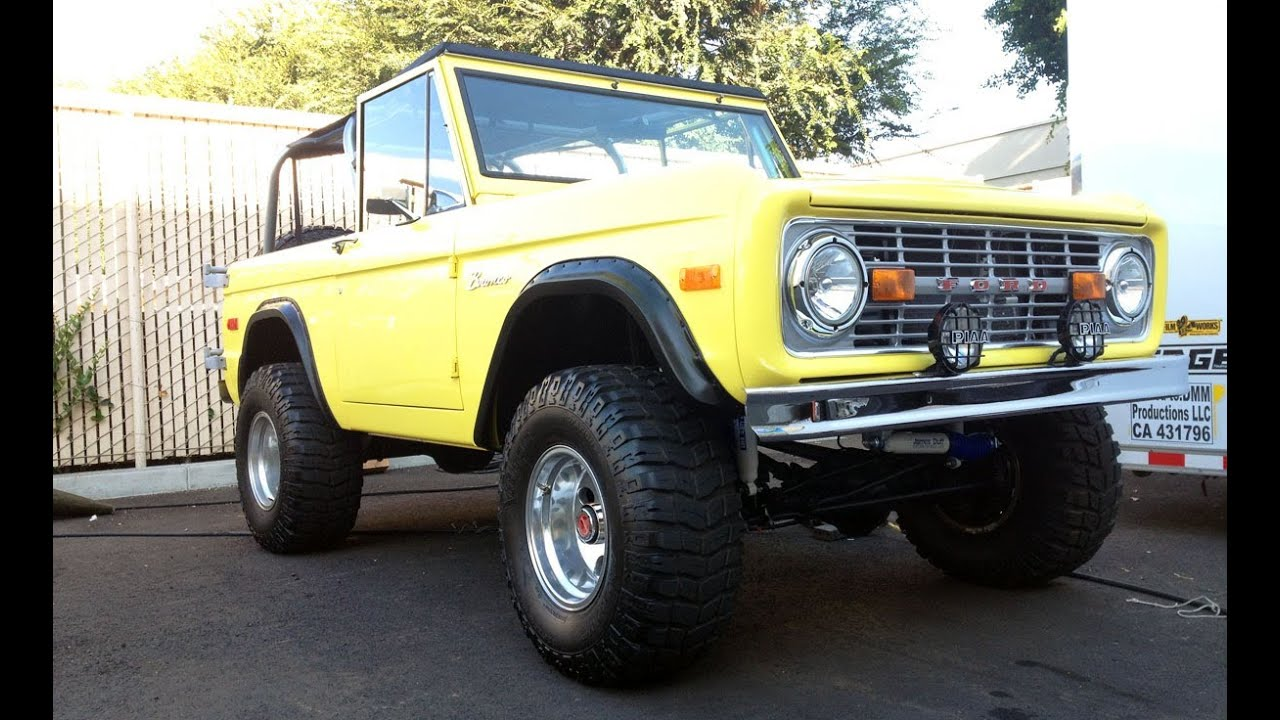 1972 Ford Bronco 4WD  Custom  4 x 4 Pictures  YouTube
