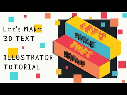 Illustrator Tutorial - 3D text in Isometric projection thumbnail