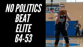 No Politics Runs Away From Elite 64-53