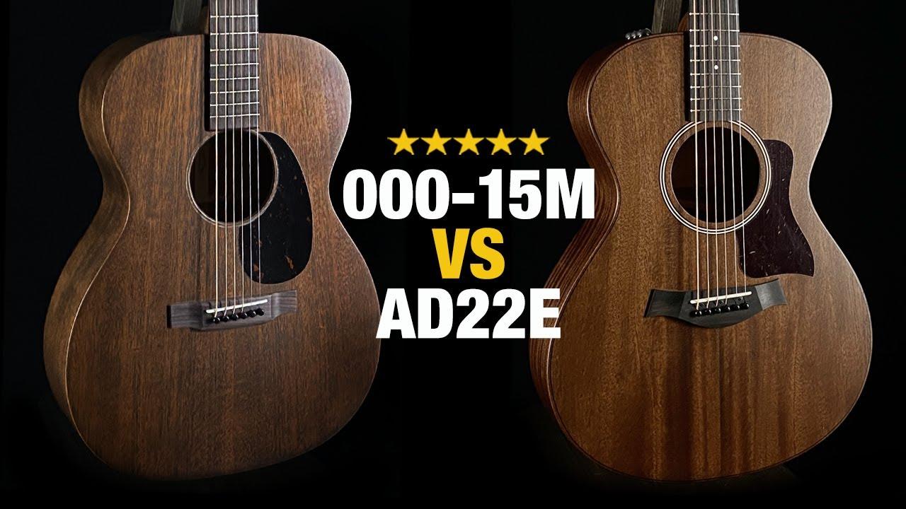 Taylor AD22e vs Martin 000-15M - Acoustic Guitar Comparison