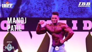 Manoj Patil Posing At Amateur Olympia 2018 India