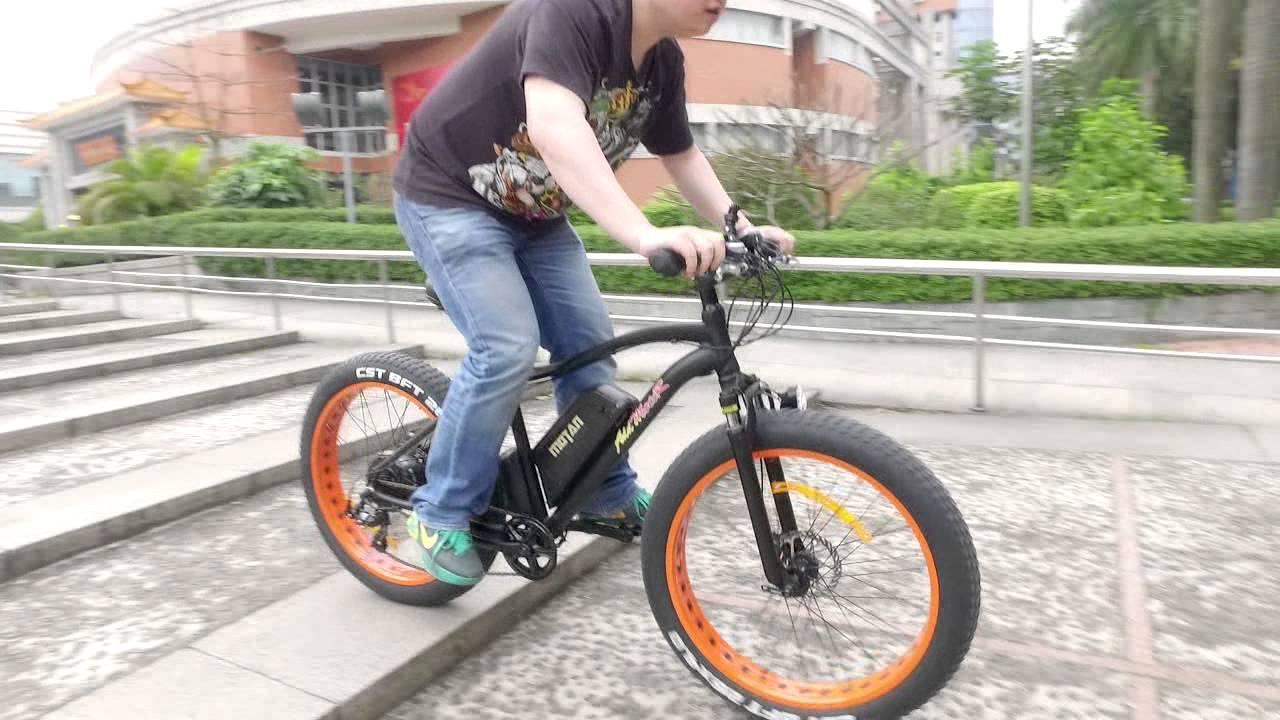 Custom Mtb 26inch Electric Snow Bicycle Beach Bike 48v 1000w Powerful Motor Fat Tires Off