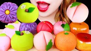 ASMR 화과자, 복숭아 초콜릿, 탕후루 먹방 FRUI…