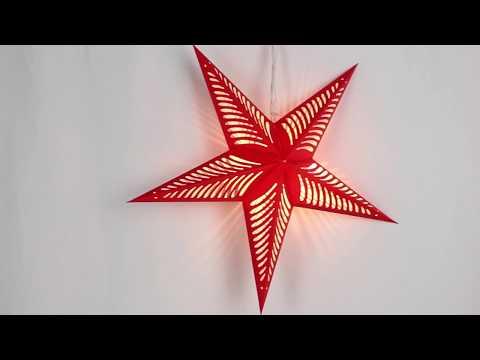 How To DIY Led Light Paper Star Lantern