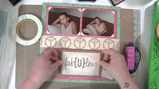 Scrapbooking Process Video: Fabulous Little Model