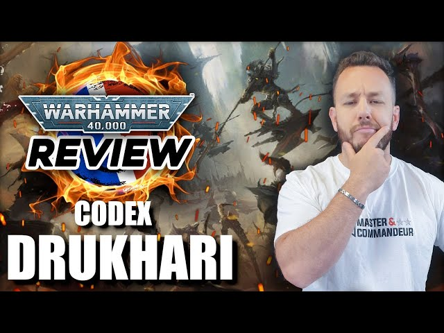 REVIEW CODEX DRUKHARI (Avec P.Kstor & Zeka) Warhammer 40.000