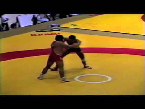 1987 Senior World Championships: 100 kg Byeung-Eun Cho (KOR) vs. Hubert Bindels (BEL)
