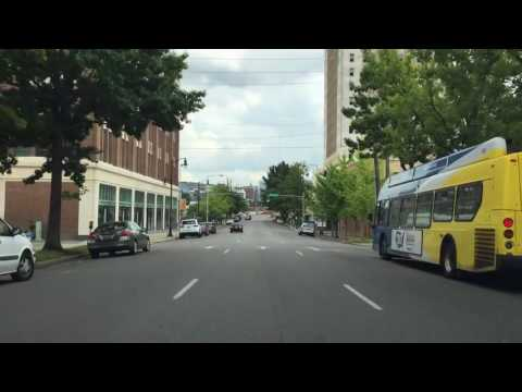 Driving Downtown Birmingham Alabama USA