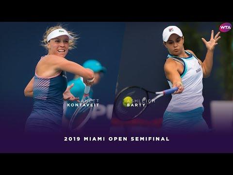 Anett Kontaveit vs. Ashleigh Barty   2019 Miami Open Semifinal   WTA Highlights