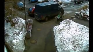Пример работы уличной видеокамеры streetCAM 580.vf работы утром. Фокусное расстояние 2,8 мм(, 2013-04-12T07:01:26.000Z)