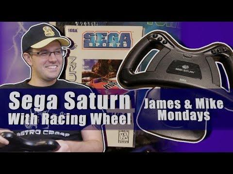Sega Saturn with Racing Wheel - James & Mike Mondays