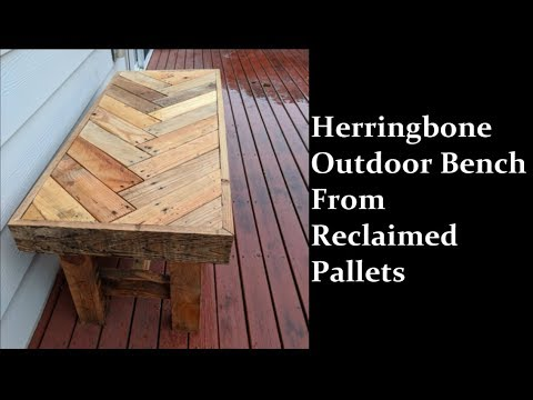 Reclaimed Pallet Herringbone Bench Project