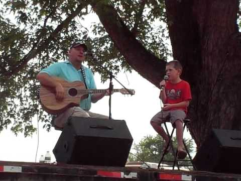 "Josh & Toby Stevens singing ""Dirt Road Anthem"""