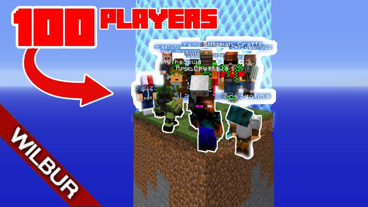 J'ai donc piégé 100 joueurs dans un petit monde frontalier 5x5 + vidéo