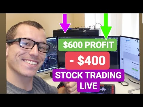 Day Trading Stocks Live | Up $600 to Down $400 | Good Trades & Bad Trades