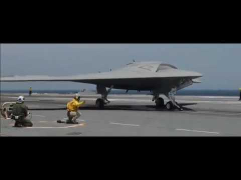 LiveLeak ||- X 47B Unmanned Combat Air System Landed On A U S  Navy Aircraft Carrier