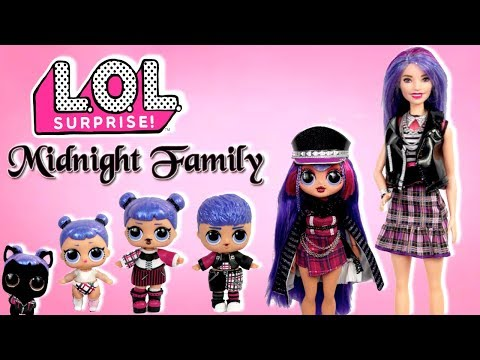 Barbie LOL Midnight Family Travel Morning Routine - Packing Suitcases & Train