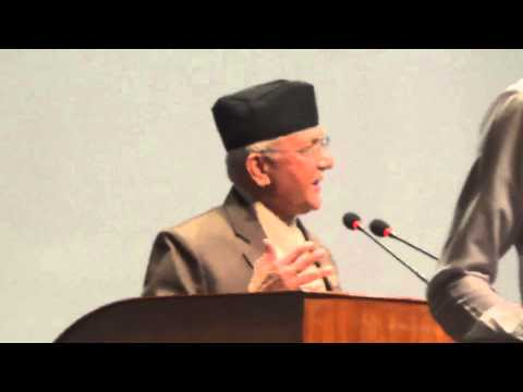 K.P. Sharma Oli addresses the Constituent Assembly