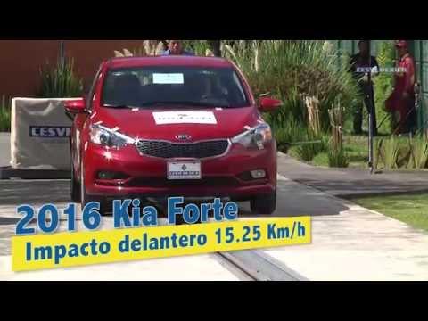 Low-speed crash test KIA Forte 2016