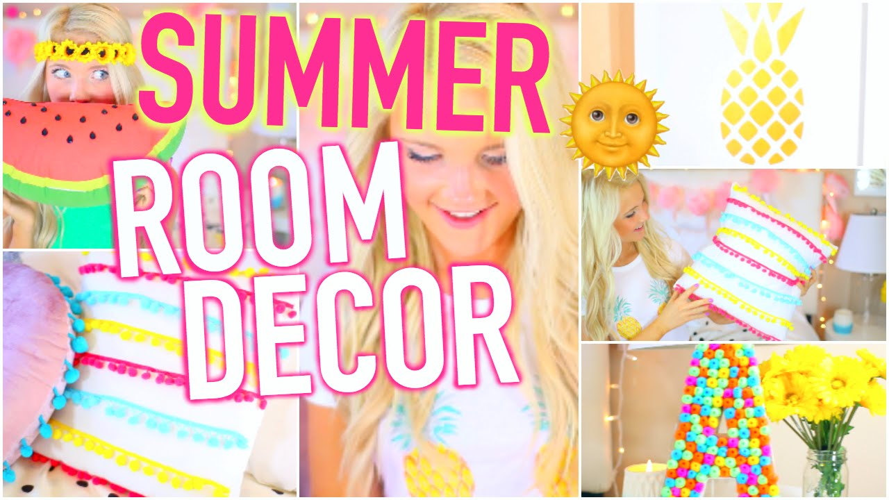 diy summer room decor: tumblr inspired! - youtube