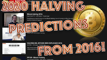 LOOKING BACK: 2016 Bitcoin Halving Predictions that AMAZINGLY came TRUE and what's COMING UP!