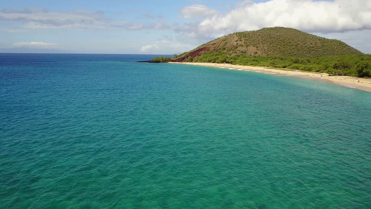 Makena Beach Maui Hawaii 4k Drone