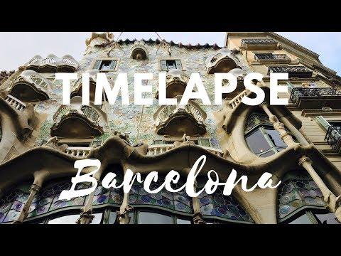 Barcelona In Timelapse - Xiaomi Yi 4k camera NO YI GIMBAL