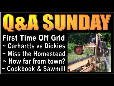 Q&A SUNDAY #3.  FAQ about our OFF GRID CABIN LIFE.