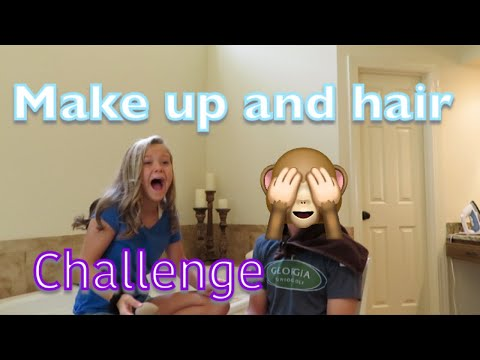 I do my brothers MAKE UP and HAIR💄| Angelina Drake