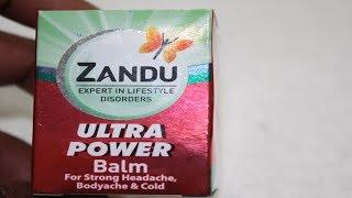 ZANDU ULTRA POWER BALM REVIEW | Benefits and USES Of Zandu Power Balm