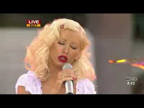 Christina Aguilera Good Morning America Beautiful