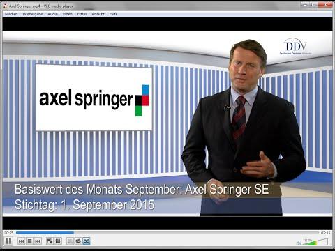 Beliebte Basiswerte von Zertifikaten: Axel Springer SE