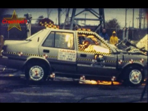 1989 Hyundai Excel / Pony | Frontal 63.5% Overlap Crash Test | CrashNet1