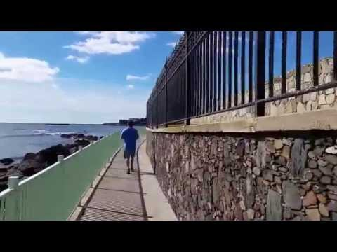 Cliff Walk, Newport Rhode Island behind the Newport Mansions on Bellevue St.  Part 2