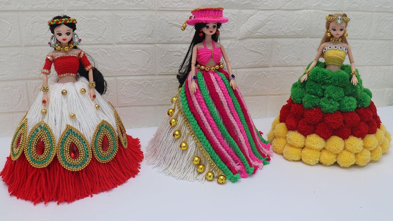 3 New design woolen craft dolls 2021 - 3 Easy way to decorate dolls |3