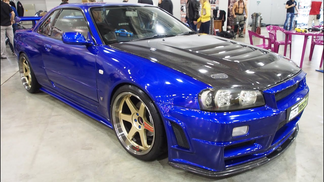 nissan skyline gtr r34 tuning walkaround moscow tuning. Black Bedroom Furniture Sets. Home Design Ideas