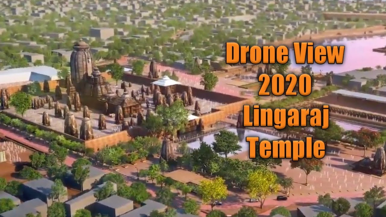 Drone View of Lingaraj Temple , Bhubaneswar ( 3d Model )   MY BBSR TV   720P HD
