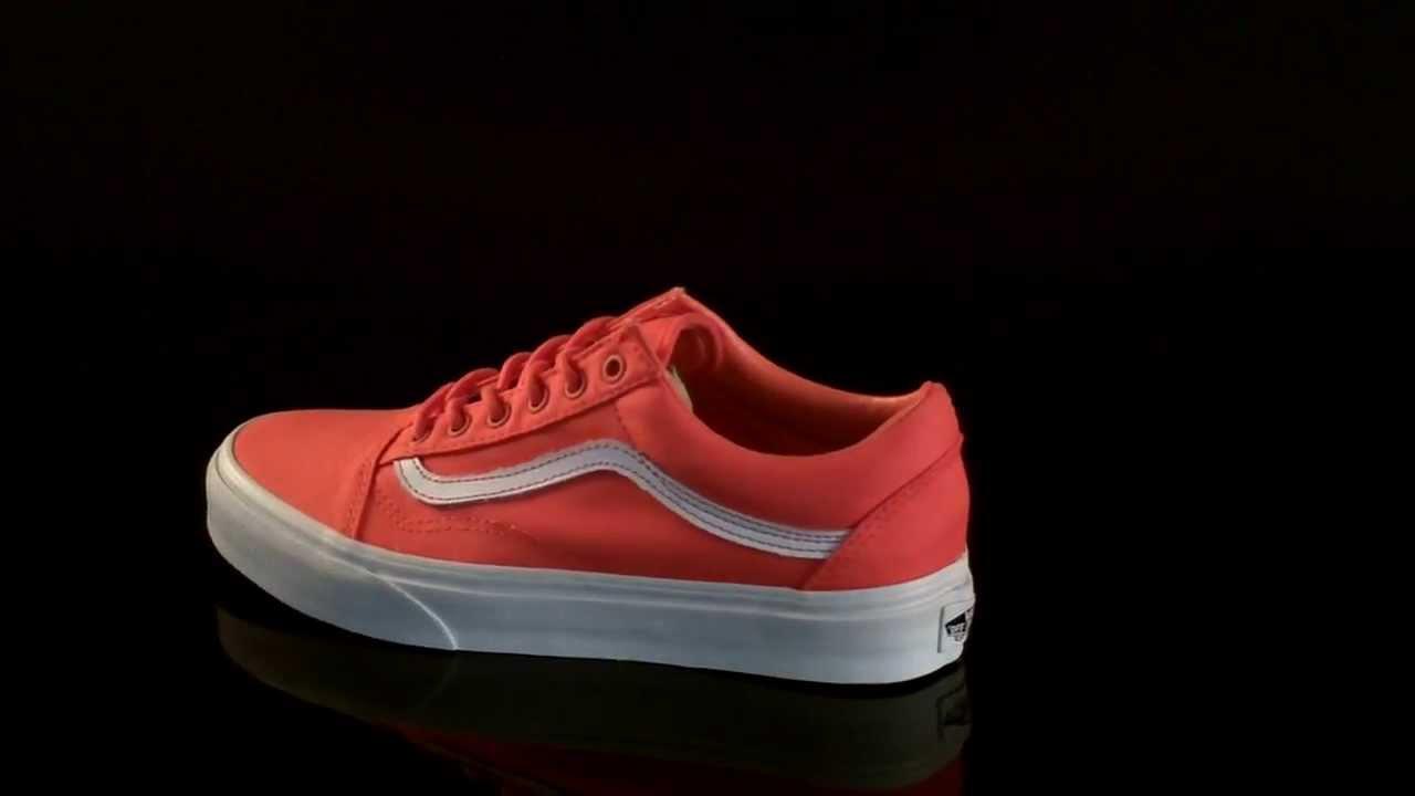 887e597b9a Vans Old Skool Sneaker Hot Coral True White VVOK5SH - YouTube