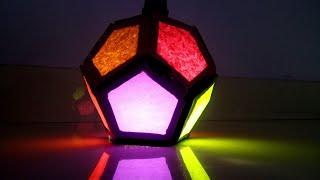 Diy Diwali lantern (Multicolor) || Diwali decoration lantern || Cardboard decoration lanther