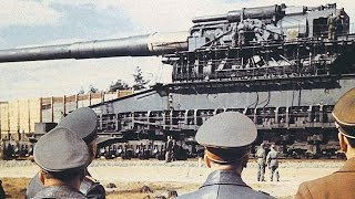 World's BIGGEST / MOST POWERFUL GUN ever built (and used in combat)! (Heavy Gustav Railway Gun.)