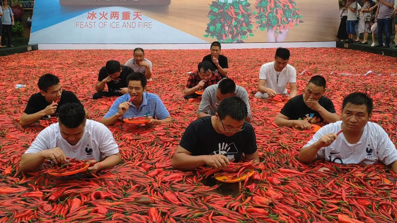 Chinese on fire at chili eating contest