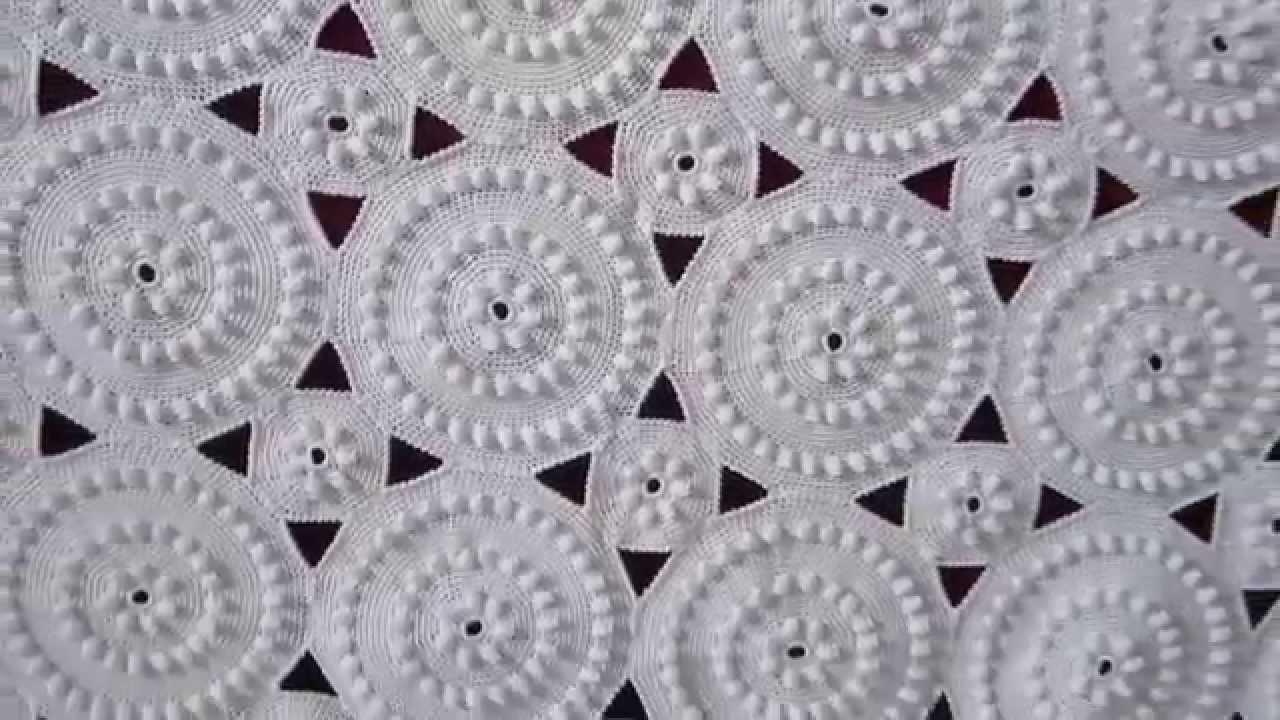 схемы вязания для покрывала