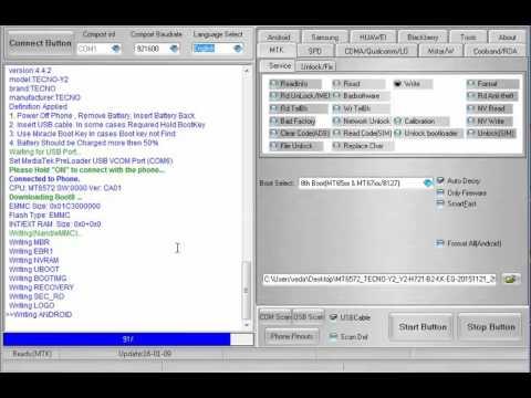 how to flash tecno y2 + oficial firmware