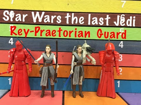 "Star Wars The Last Jedi REY & PRAETORIAN GUARD 3 3/4"" action figures toy review"